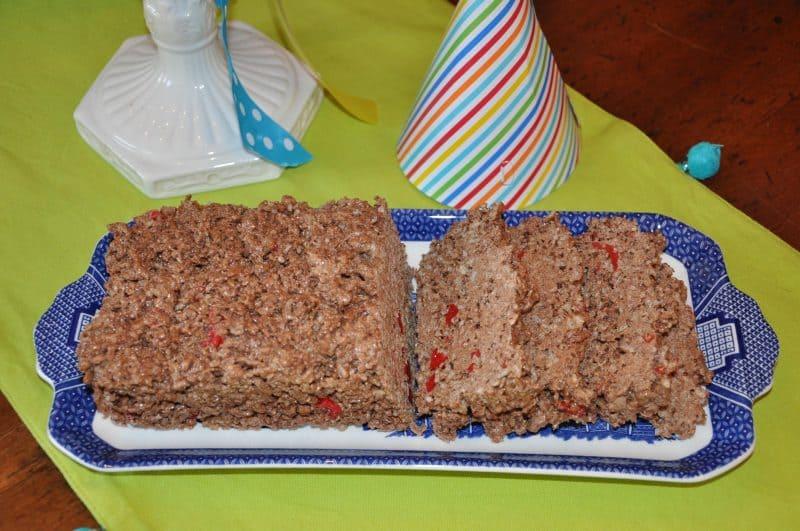 Meatloaf Cake For April Fools Day