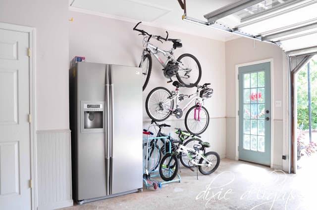 bike station in garage