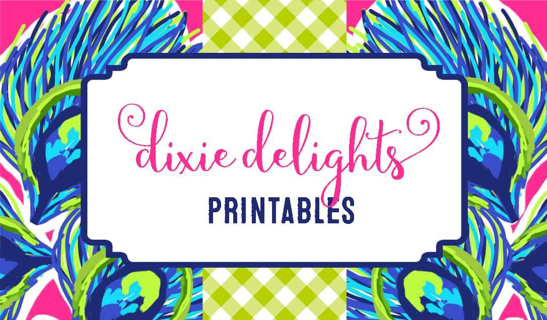Printables Dixie Delights