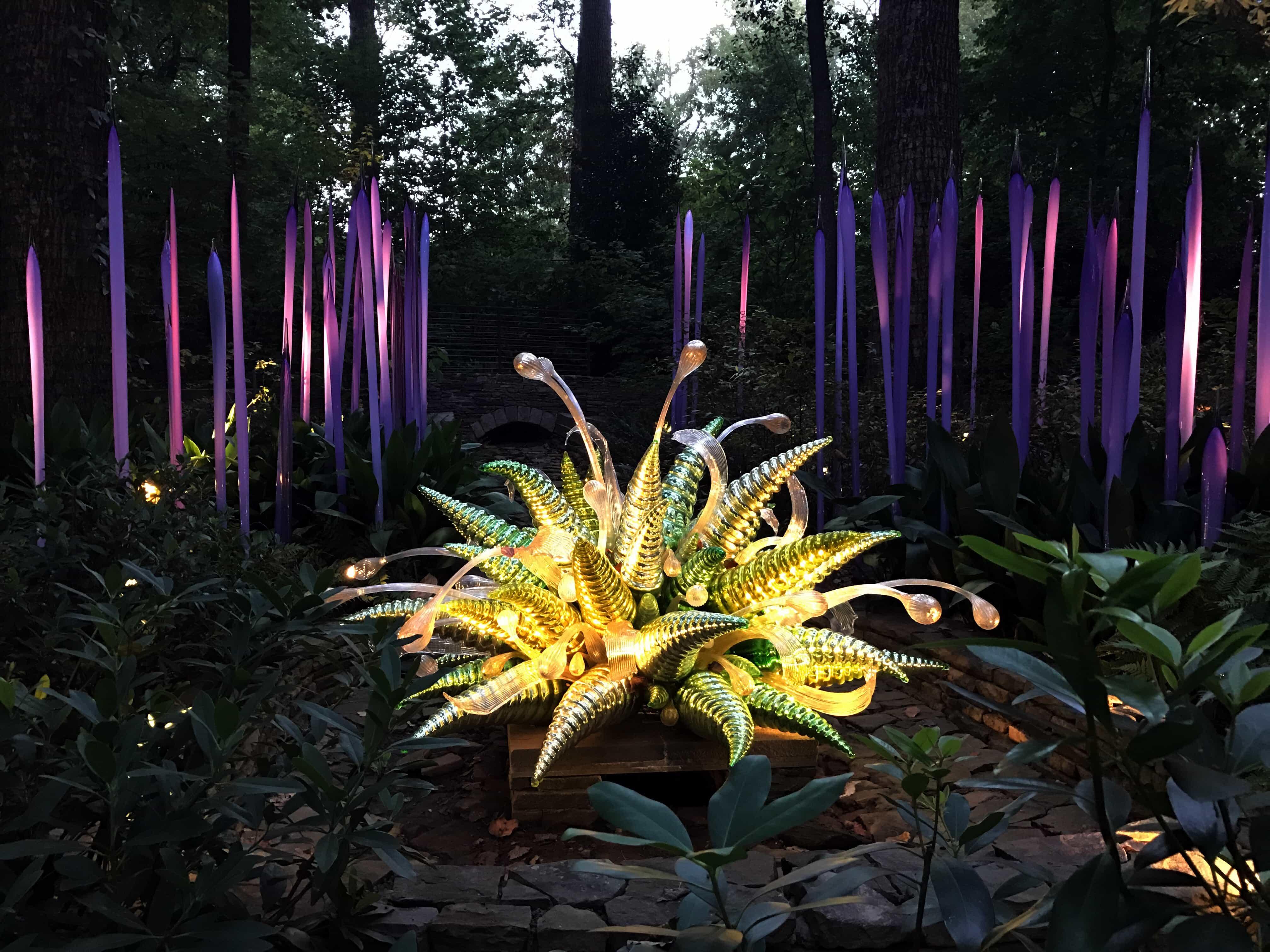 Around Atlanta Chihuly Nights At Atlanta Botanical Garden