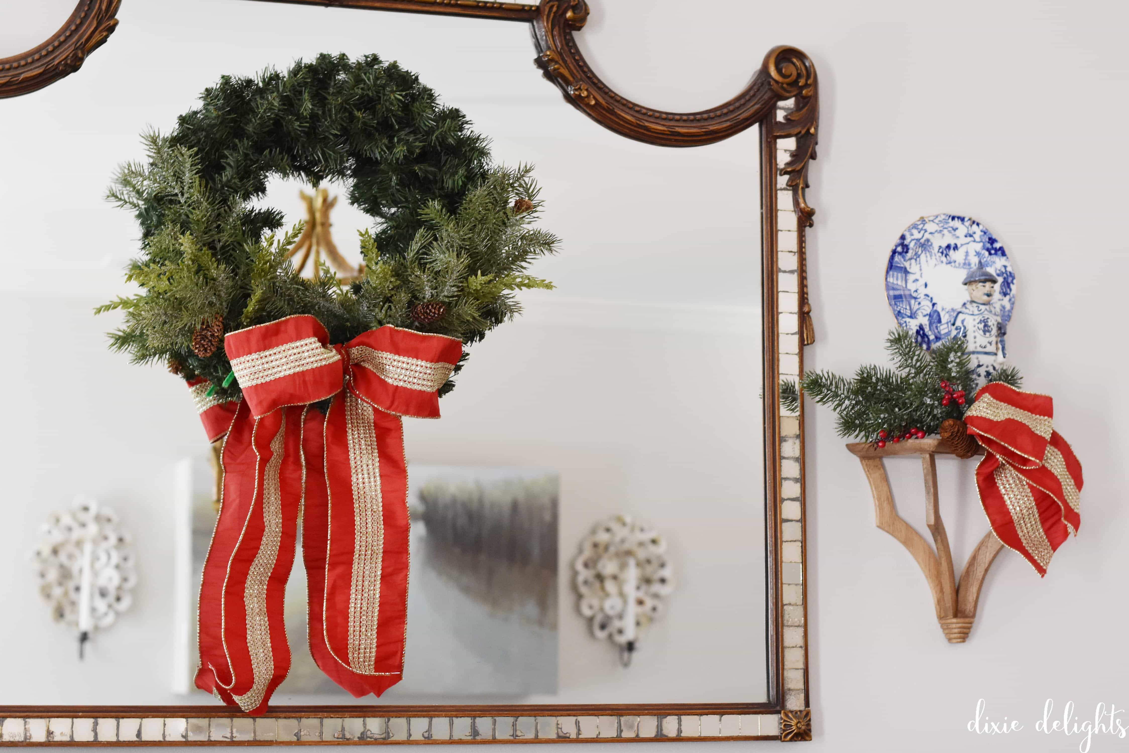 Daily Delight {How to Spruce Up a Basic Christmas Wreath} – Dixie ...
