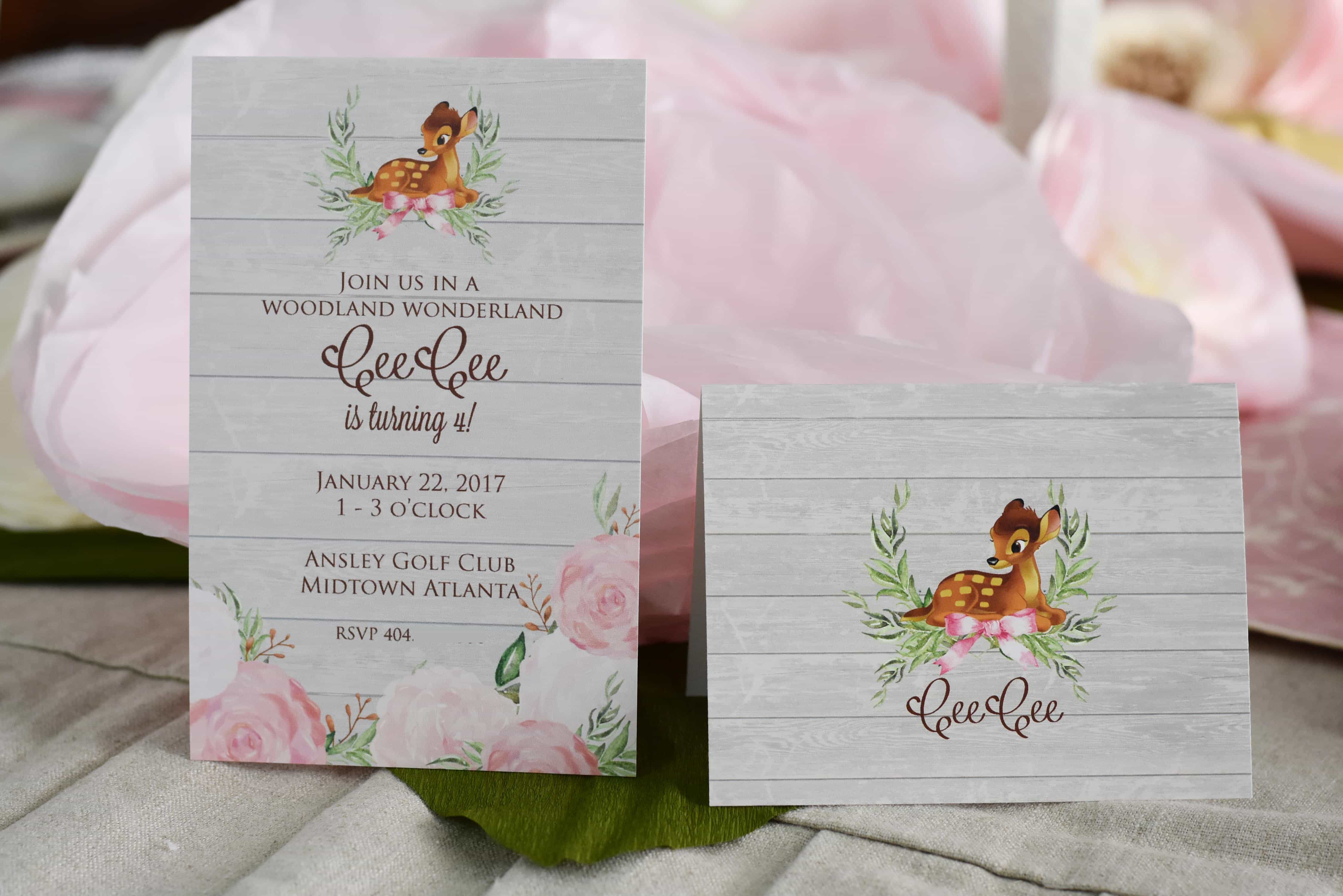 Bambi\'s Woodland Wonderland Party – Dixie Delights