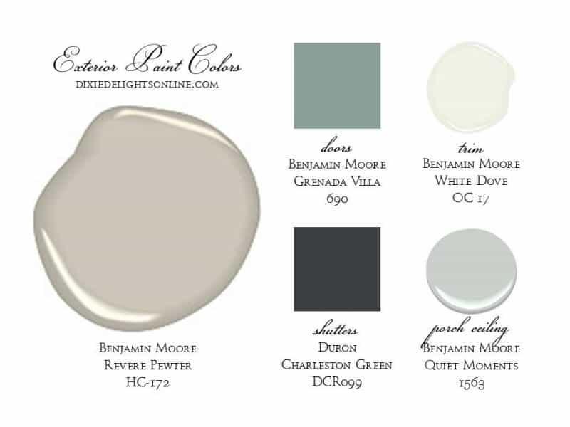 The Delightful Home {Exterior, Paint Colors + Landscape} – Dixie ...