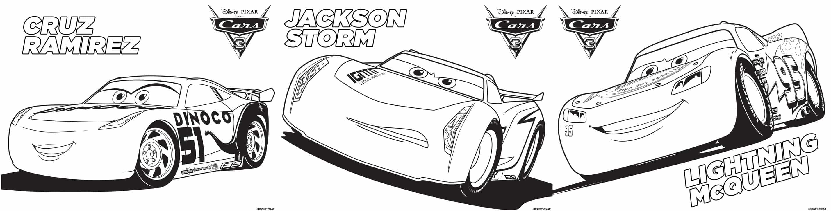 Cars 3 {Printable Coloring Pages, Games + Recipe} – Dixie Delights