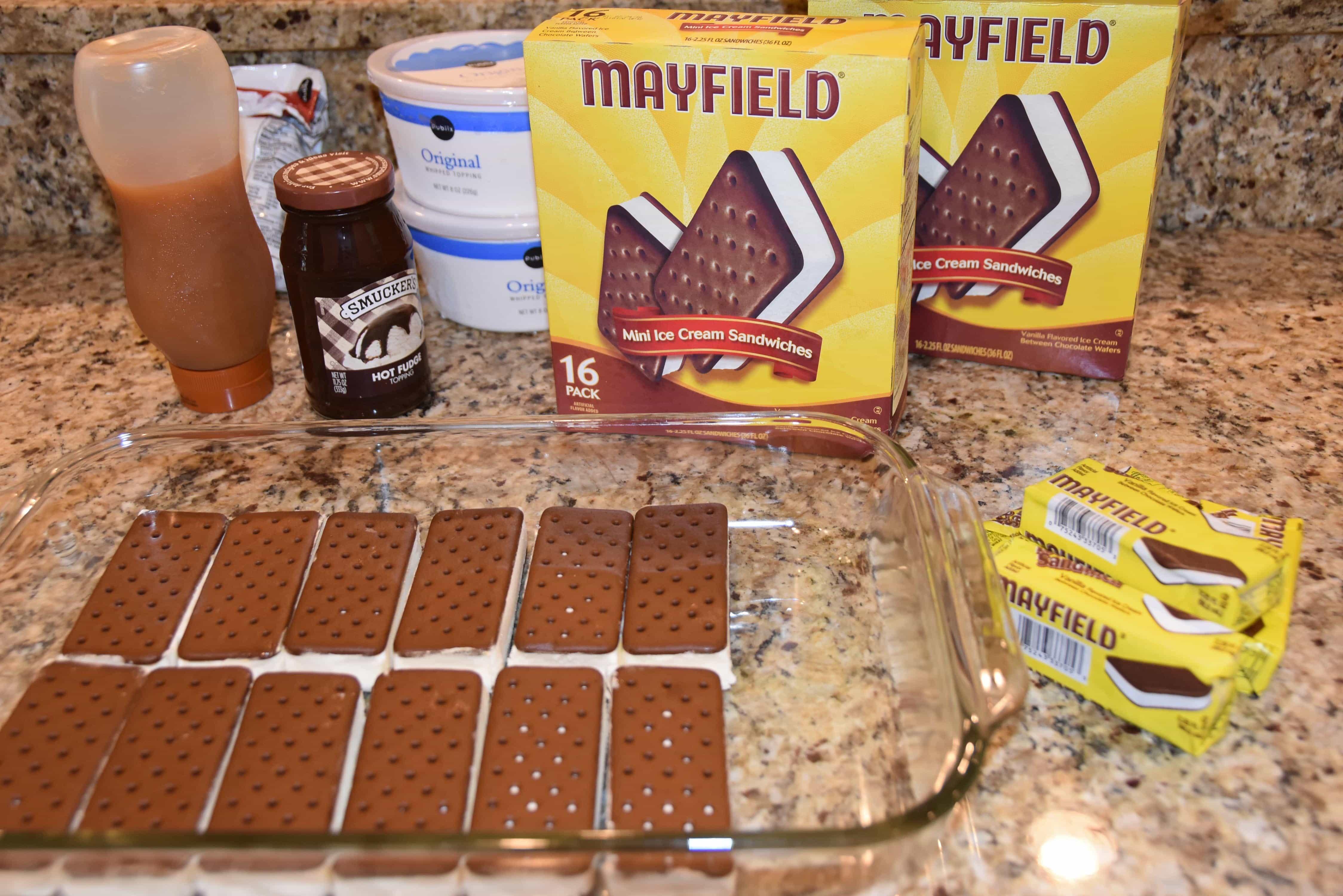 Stupendous Ice Cream Sandwich Sundae Cake Dixie Delights Funny Birthday Cards Online Alyptdamsfinfo