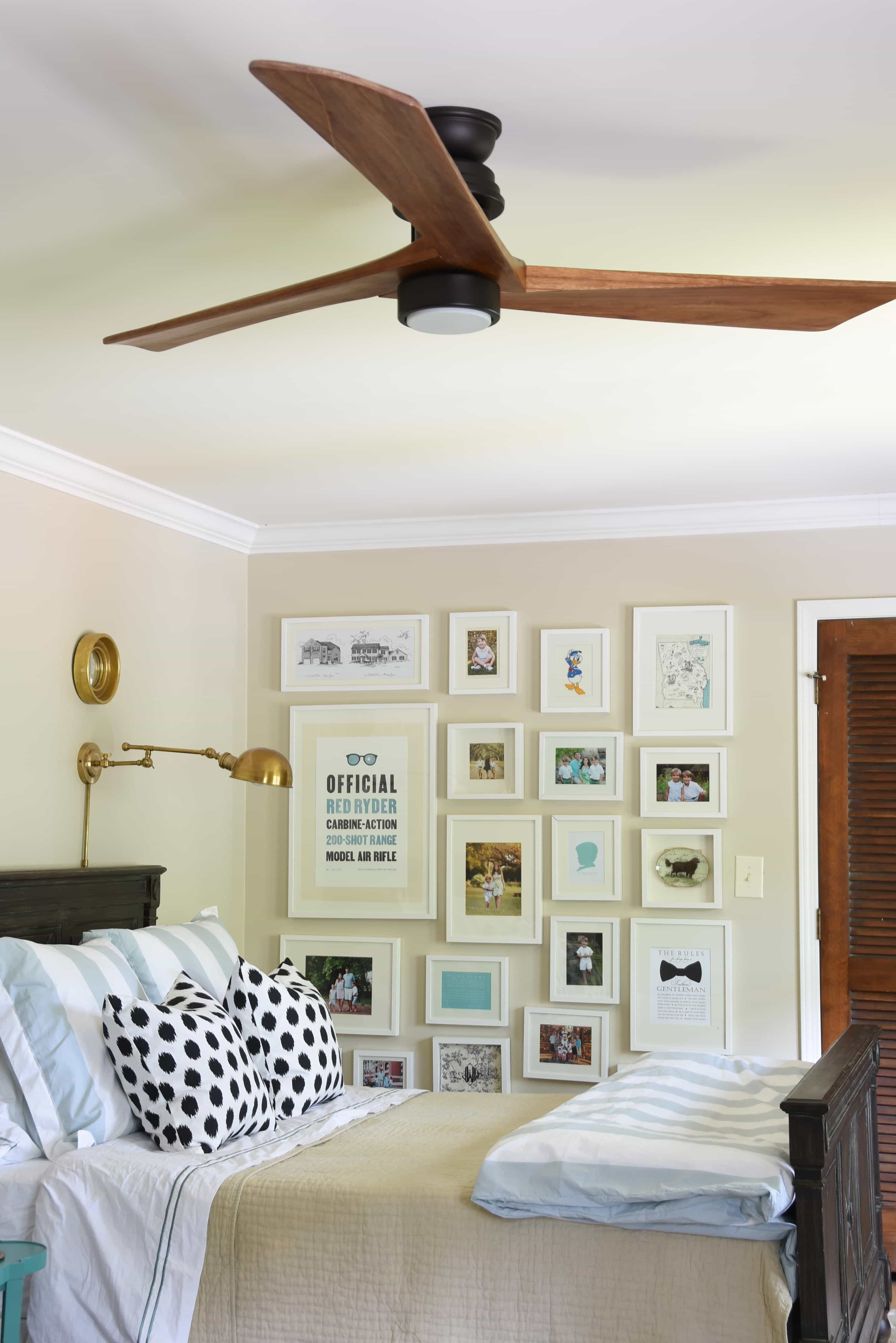 Boy room update the ceiling fan dixie delights but the cool breeze is just fantastic john loves that it has a remote control from which he control both the fan direction speed and light on a dimmer mozeypictures Gallery