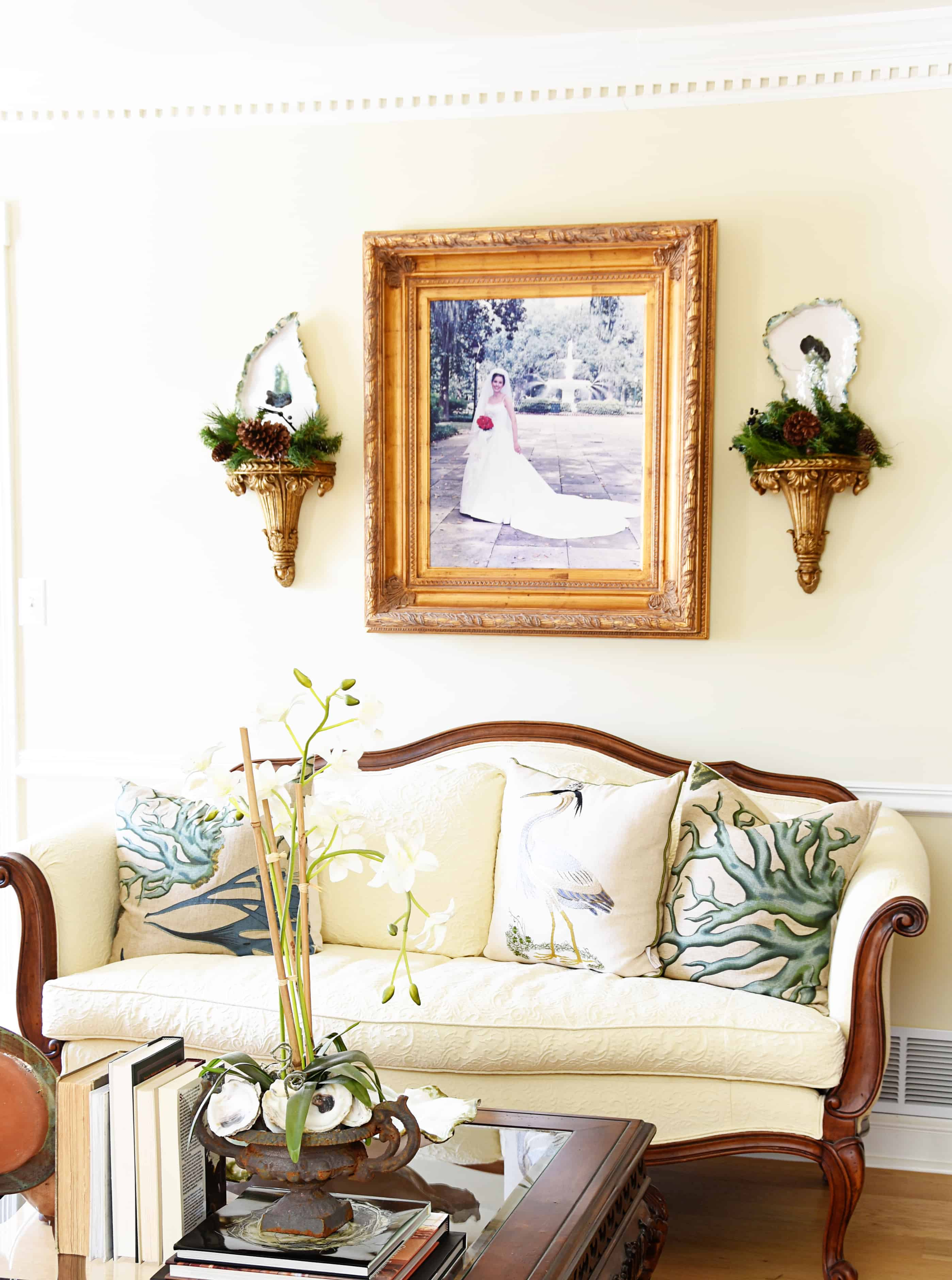 living room items. The rest of the room just has a few little items like greenery on  sconces Deck Halls 2017 Living Room Dining Dixie Delights