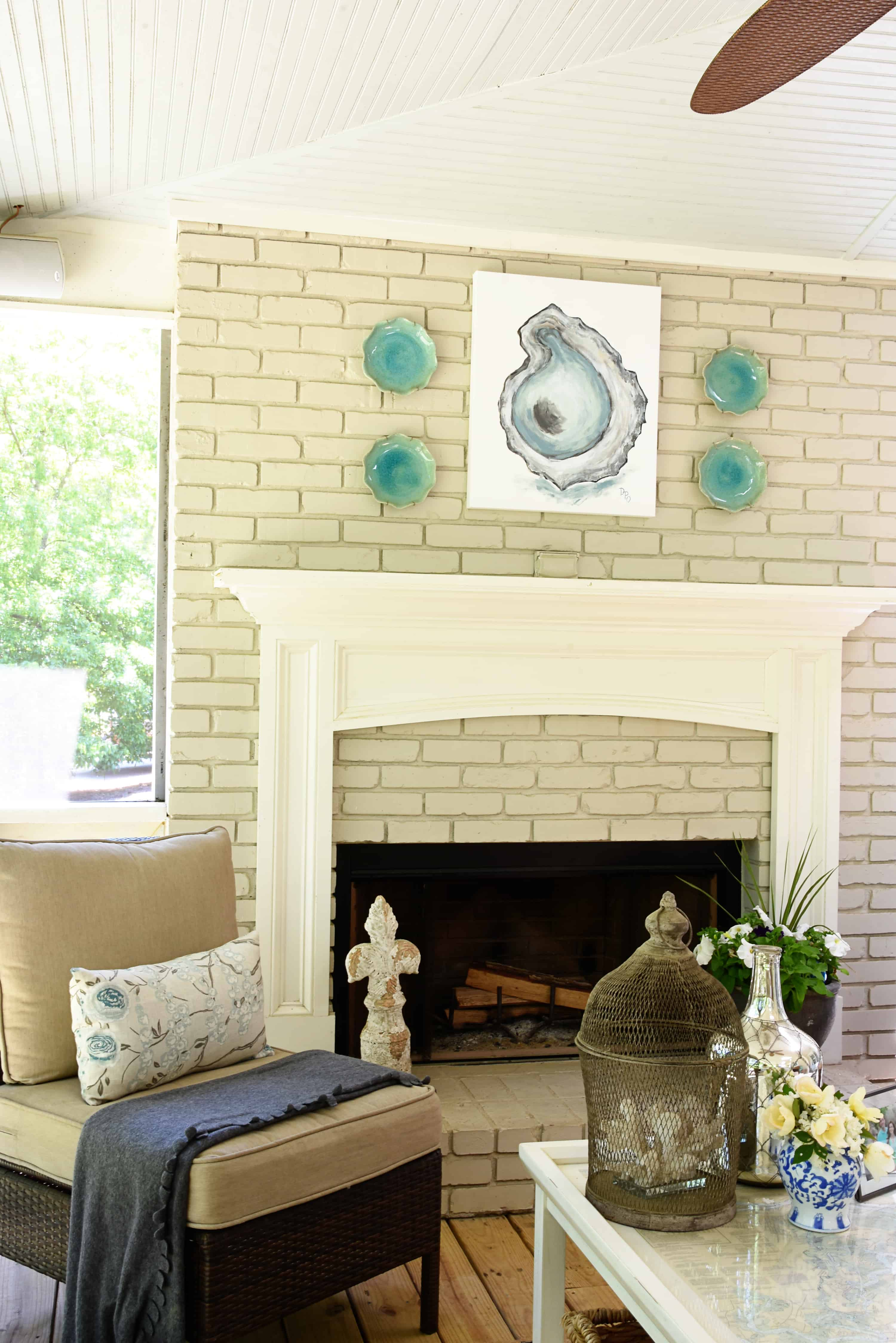 ... The Bring Painted Fireplace Inside And Had The Mantle Made As An Exact  Replica, Just On A Smaller Scale, Of What We Have In The Den. {Tour The Den  HERE}