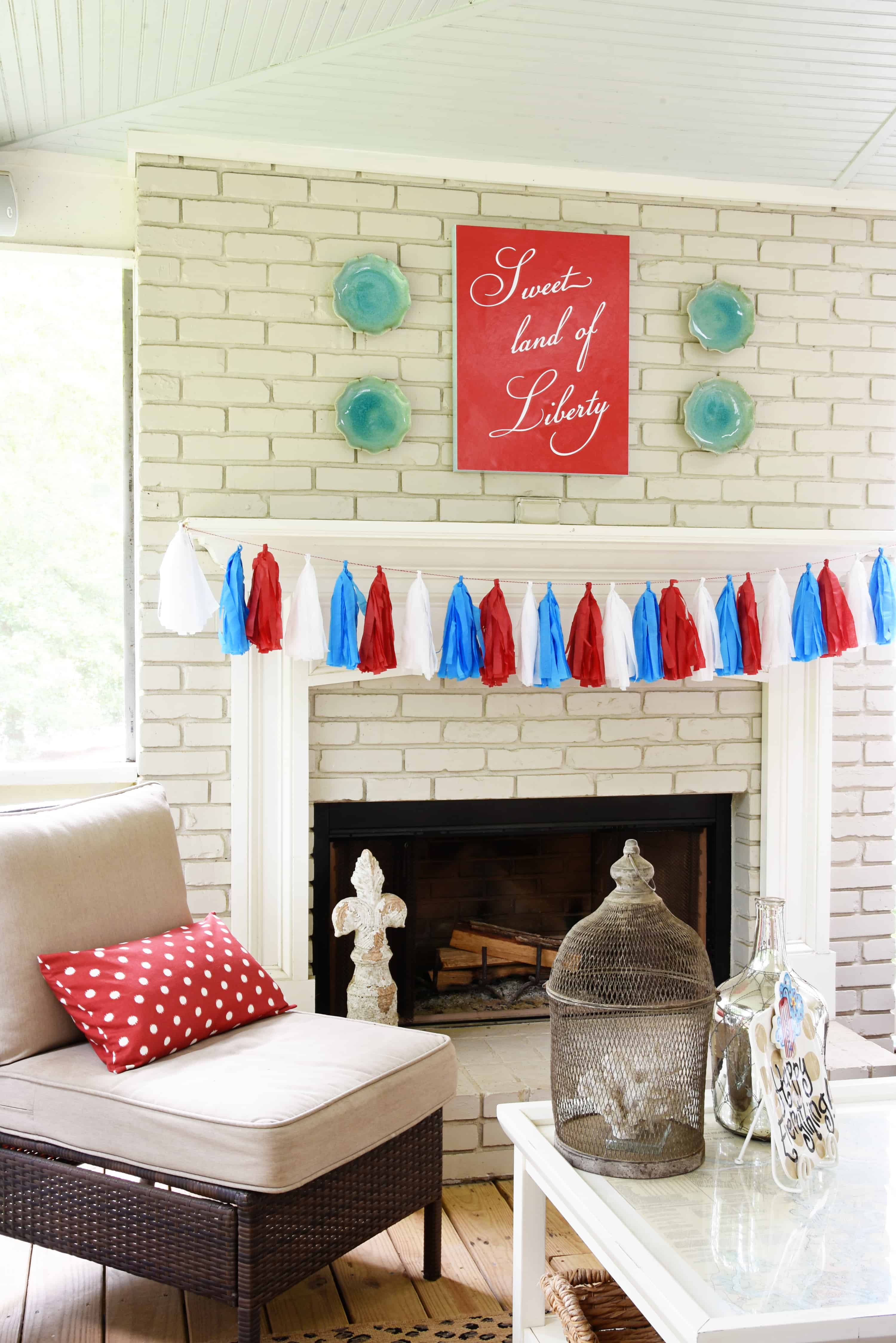 I Love Tissue Paper Tassels For Fun, Inexpensive Holiday Decor