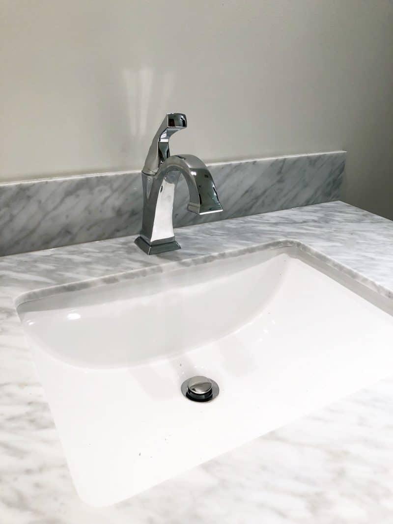 Boys Bathroom {Week 5 Construction Update: Vanity, Shower Fixtures U0026 Glass}