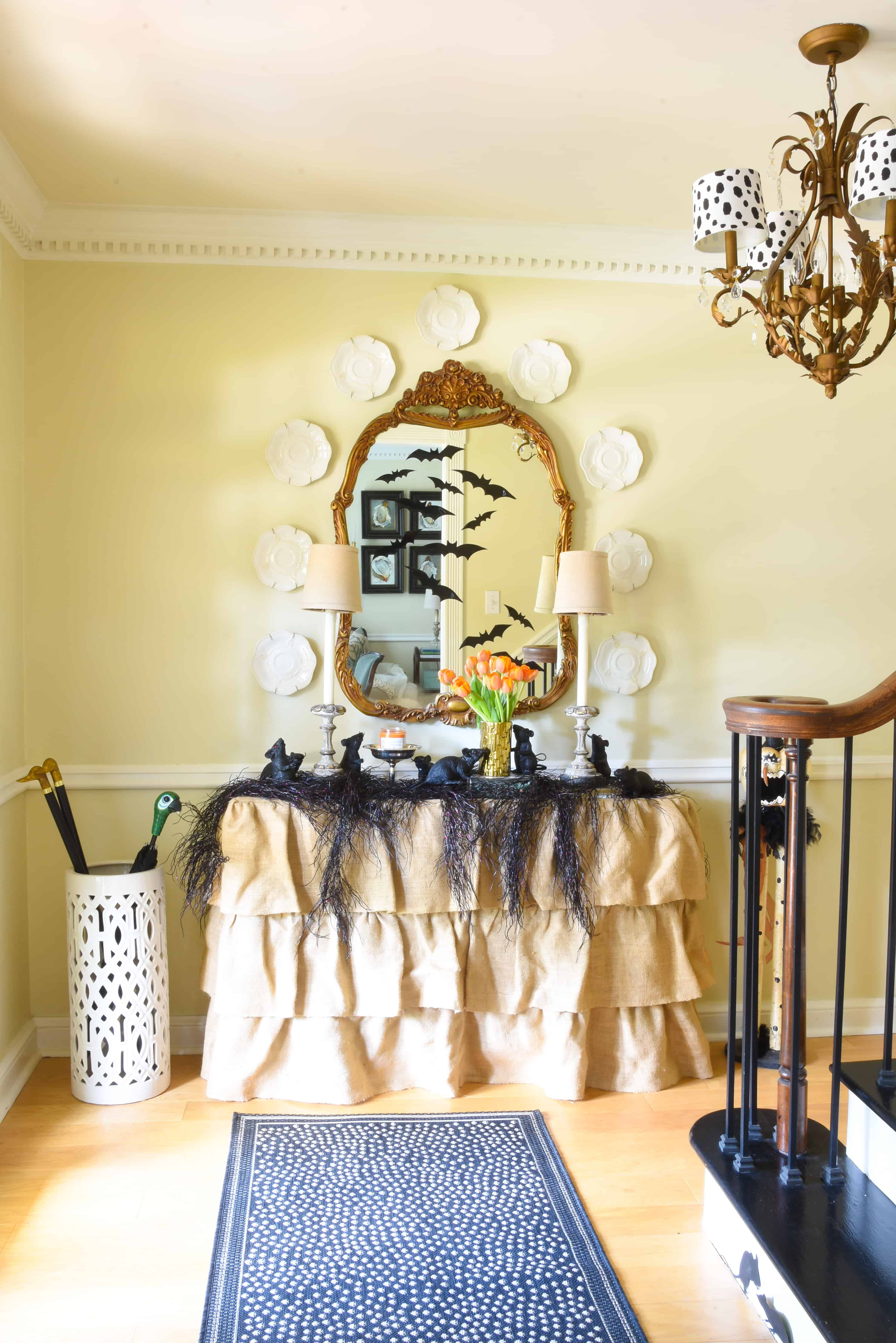 Haunted Halloween Home Tour 2018 Foyer – Dixie Delights