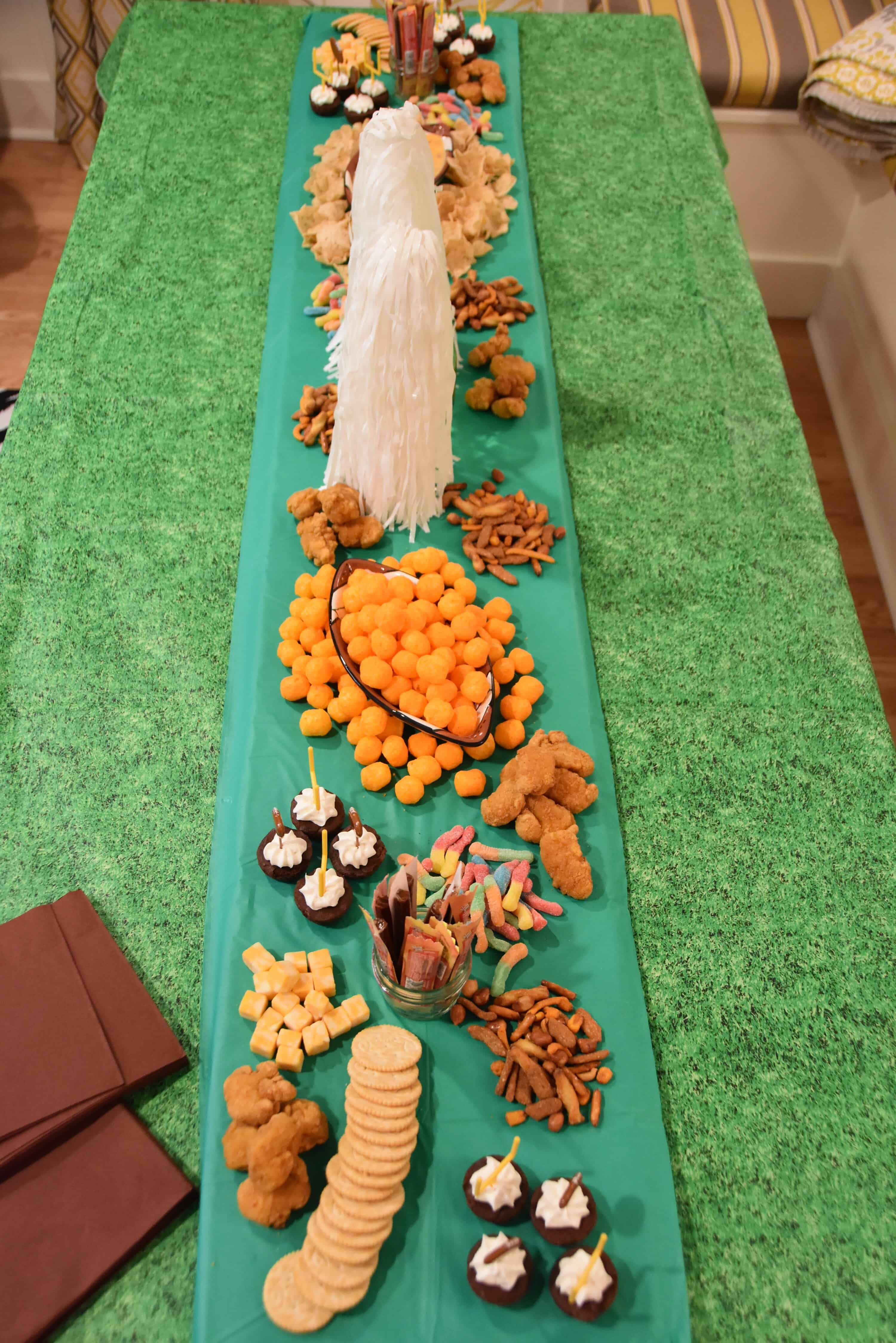 Winter Super Bowl Snack Centerpiece for Teens - Dixie Delights