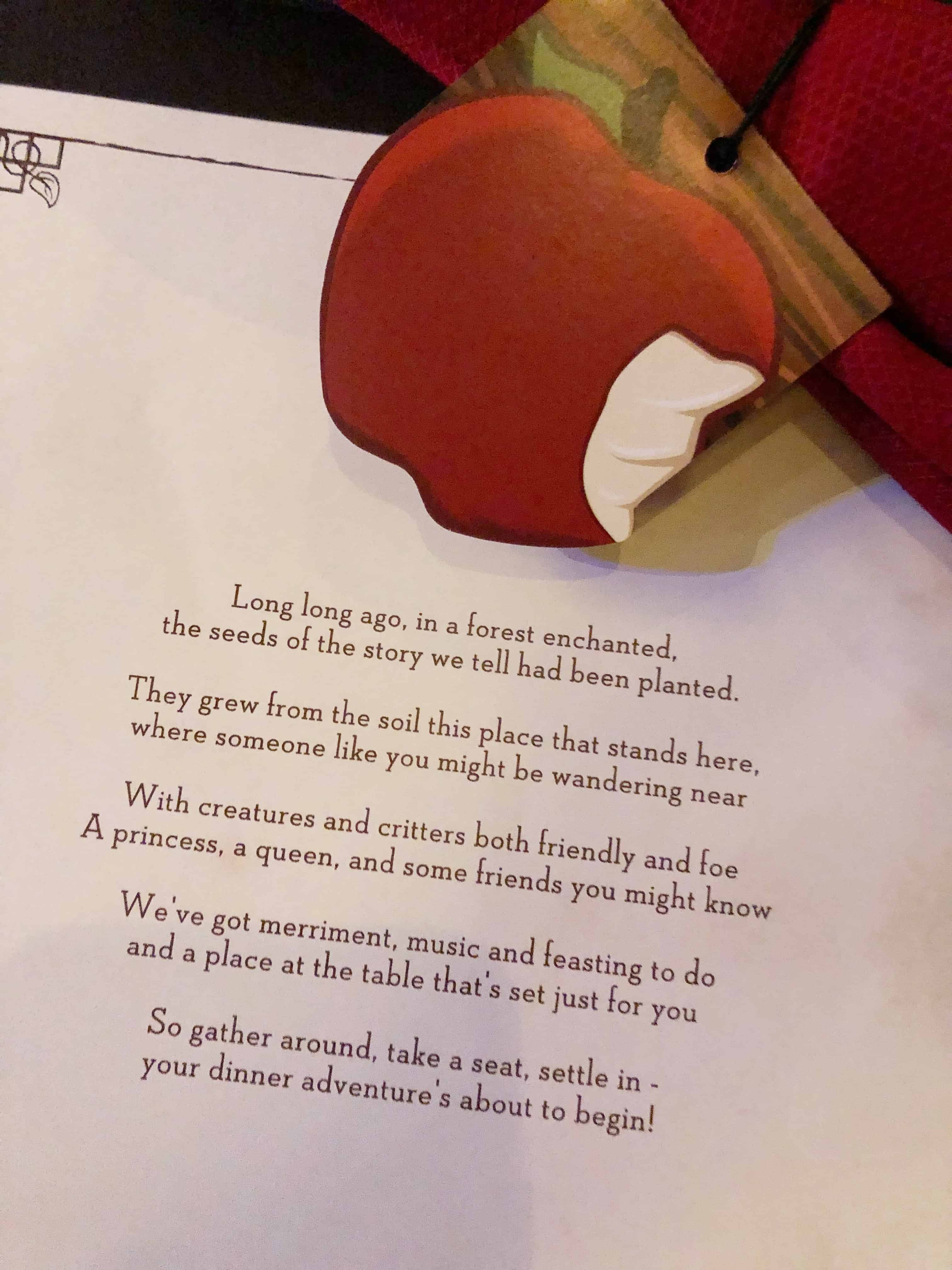 Storybook Dining at Artist Point with Snow White – Dixie Delights