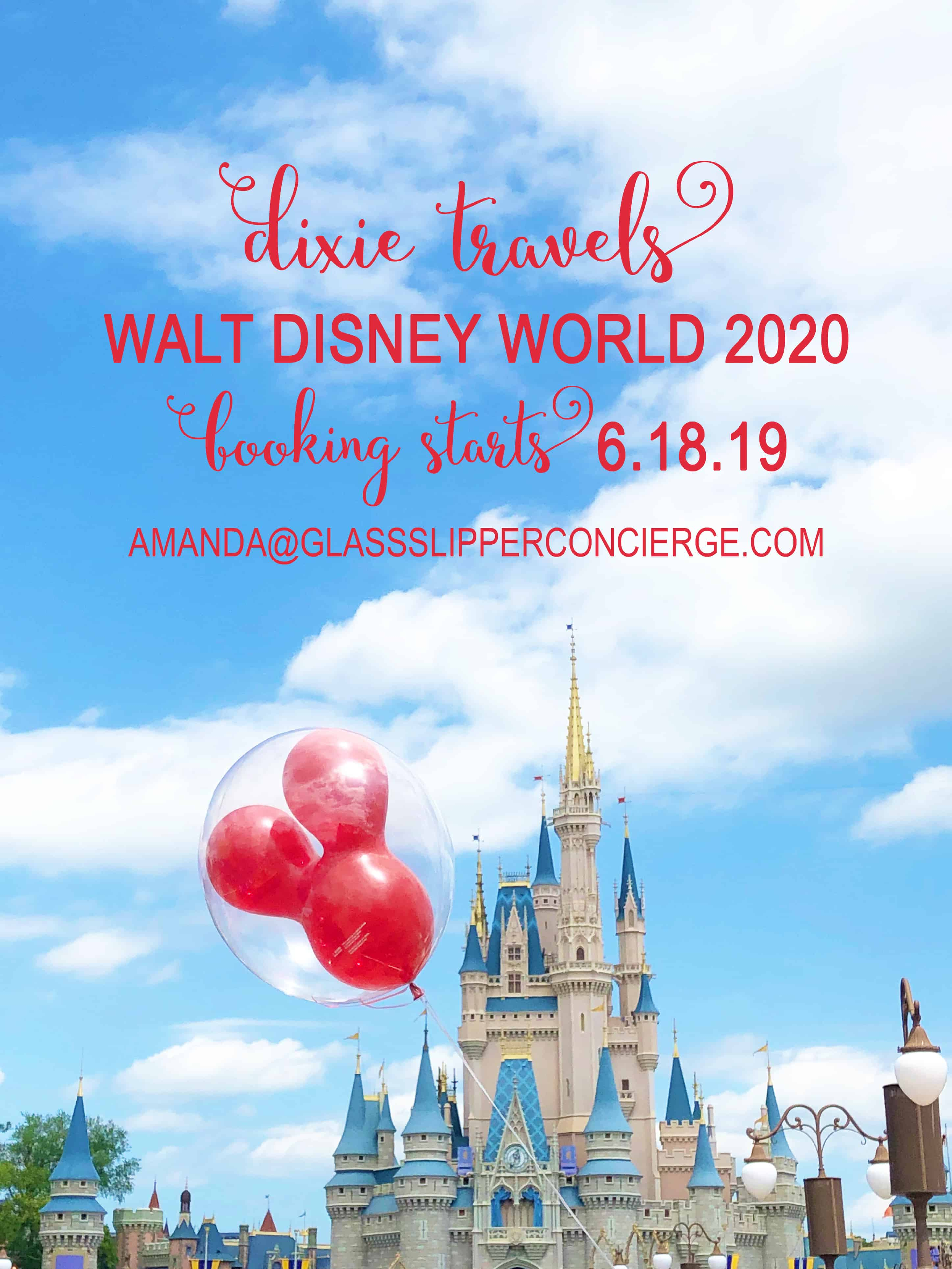 Events At Disney World 2020.Walt Disney World 2020 Booking Opens June 18 Dixie Delights