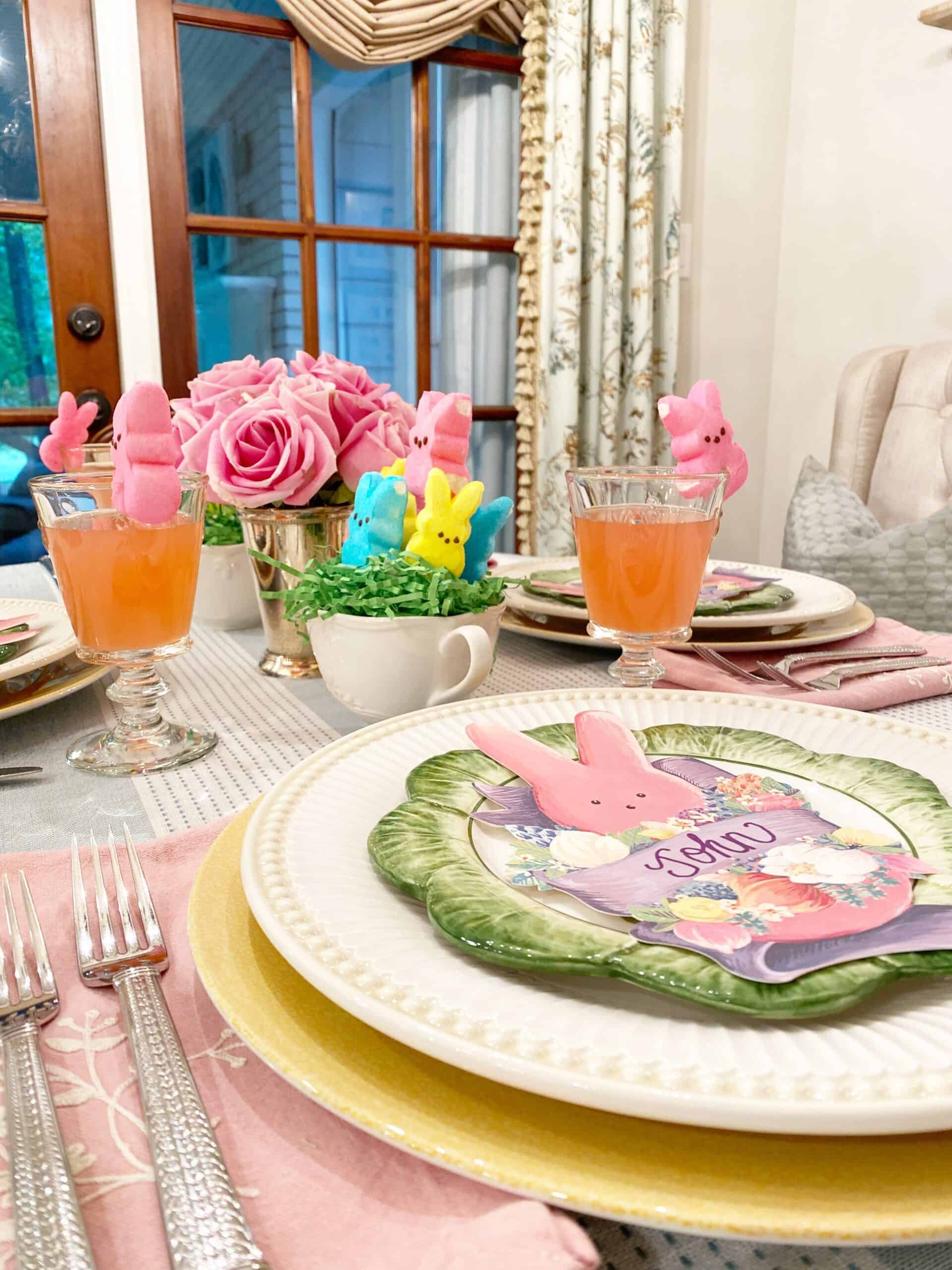 Costco Easter Baskets: An At Home Easter {Peeps Inspired Table & Easter Baskets